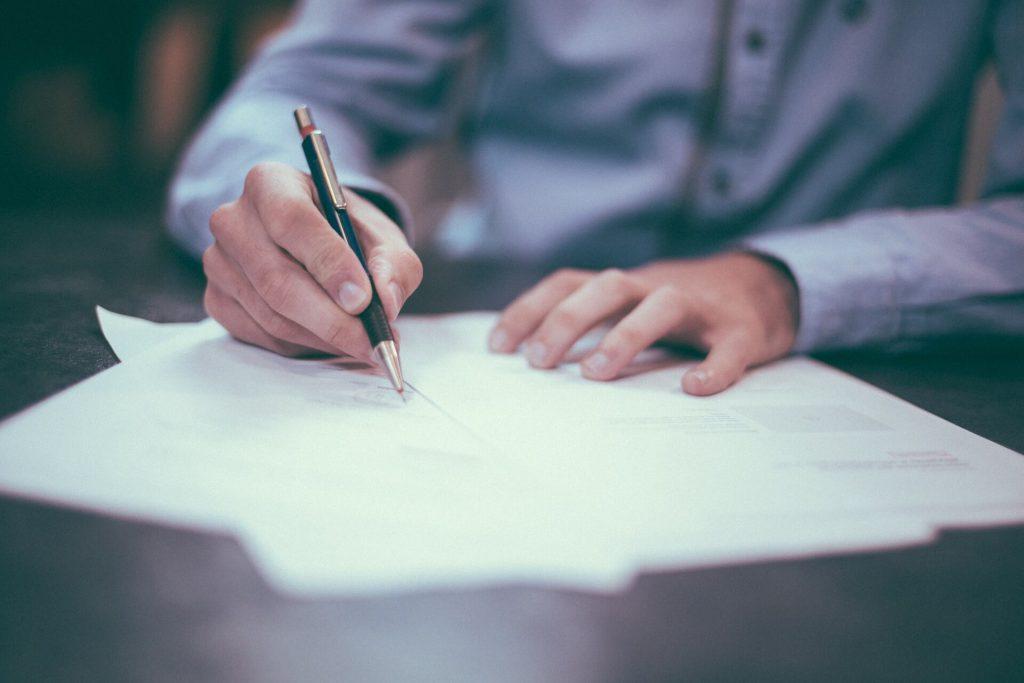 חתימה על הסכם